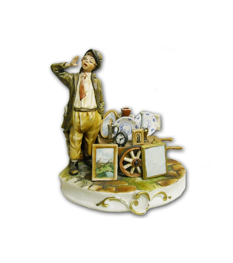 """Junk Dealer"" in Capodimonte Porcelain"