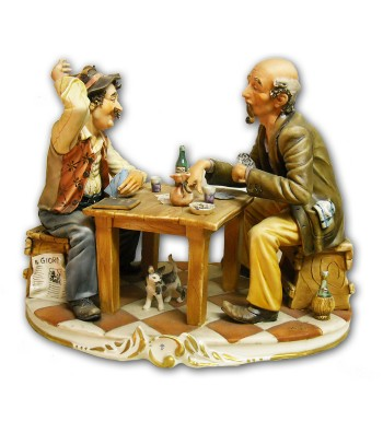 """Card Game"" in Capodimonte Porcelain"