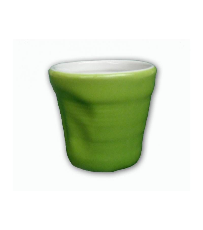Bicchierino Colorato Stropicciato verde
