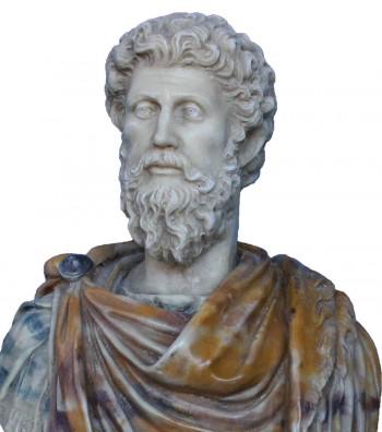 Marco Aurelio face detail
