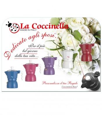 """Caffettiera Espresso modello """"Coccinella"""" colori diversi"""