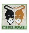 """Piastrella in Ceramica """"Attenti ai Gatti"""""""