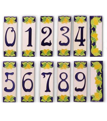 Numeri Civici in Ceramica decoro Limoni