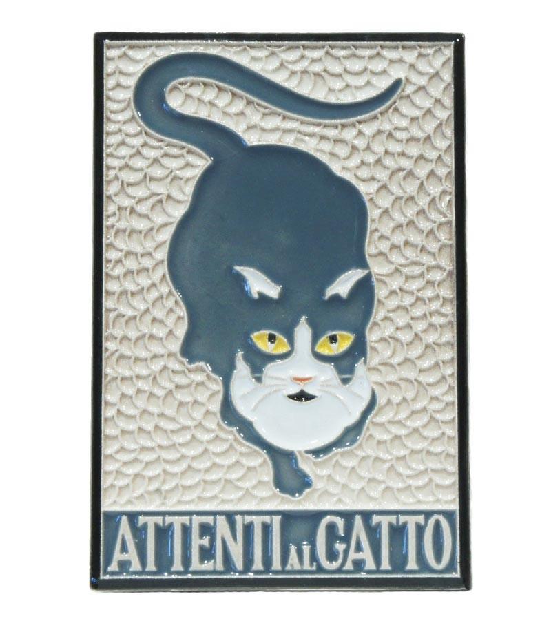 """Piastrella in Ceramica """"Attenti al Gatto"""""""