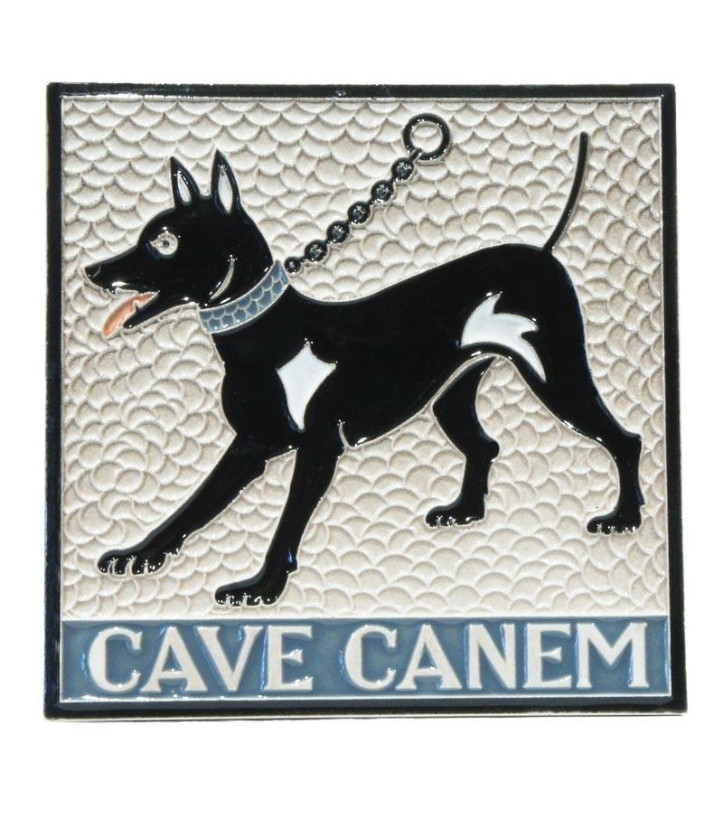"Ceramic Tile ""Cave Canem"""