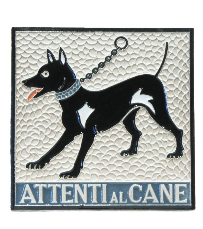 "Ceramic Tile ""Beware to the Dog"""