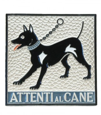 "Ceramic Tile ""Beware to the Dog"""