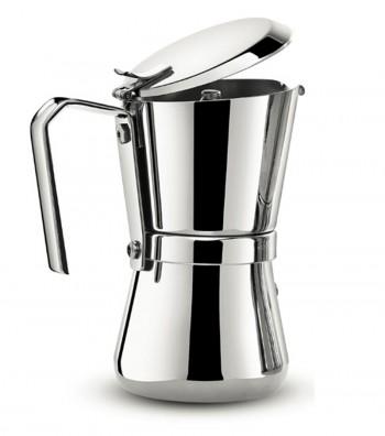 Giannina espresso coffee maker open lid