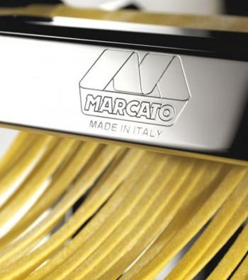 Atlas pasta machine fettuccine detail