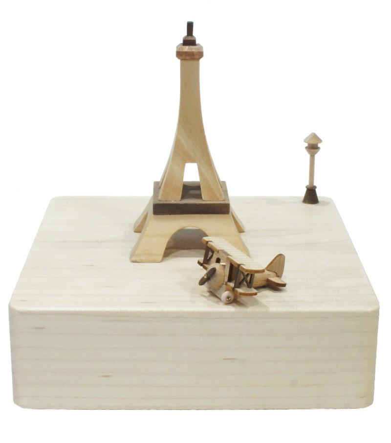 Wooden Music Box Paris