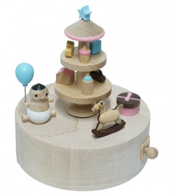 Wooden Music Box Baby and Toys