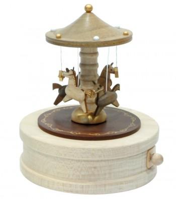 Carillon in legno Giostra con i Cavalli