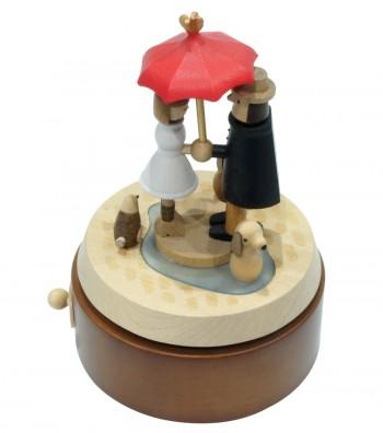 Carillon in legno Innamorati visti dal alto