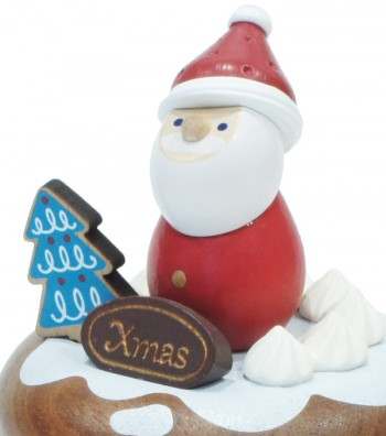 Wooden music box Santa Claus