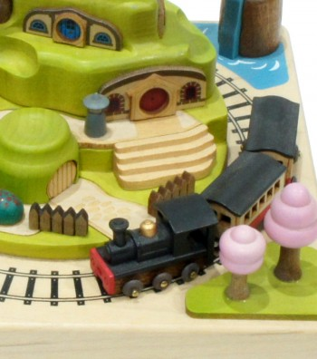 Wooden music box Train