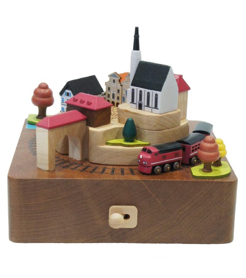 Carillon in legno Treno d'autuno