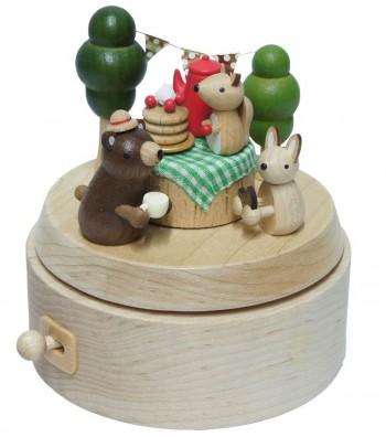 Carillon in legno picnic di compleanno