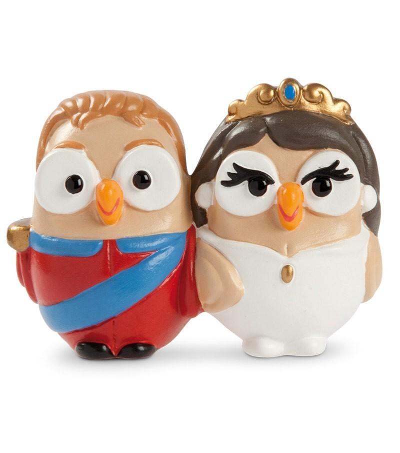 """ceramic figurine goofo """"Prince e Princess"""" (William e Kate)"""