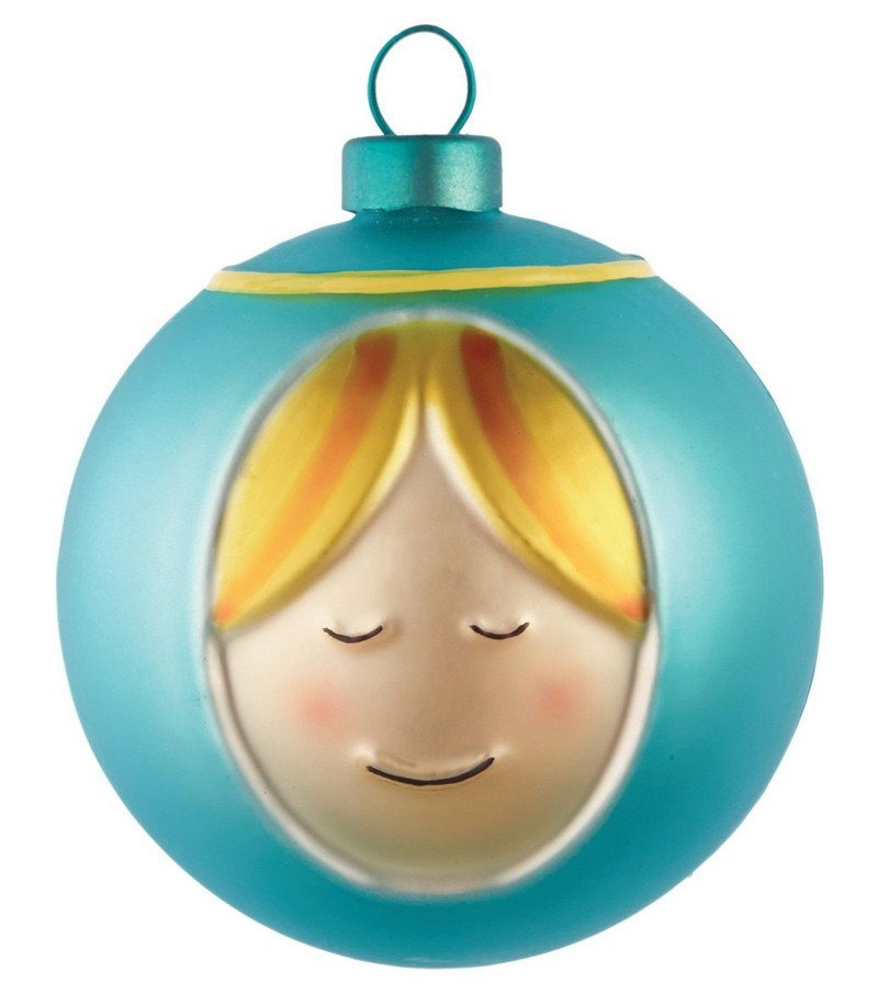 Mother Mary Christmas bauble design Marcello Jori