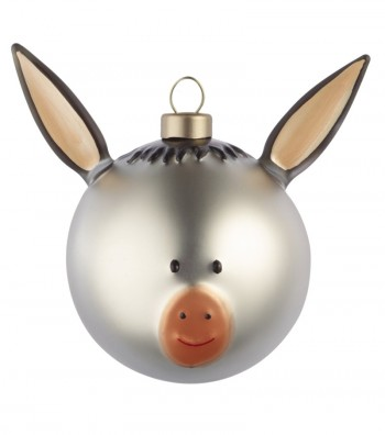 Donkey Christmas bauble design Marcello Jori