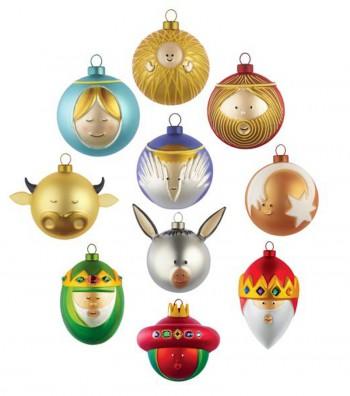 Christmas baubles set design Marcello Jori