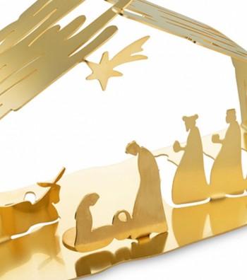 presepe oro in acciaio design Boucquillon & Maauoi