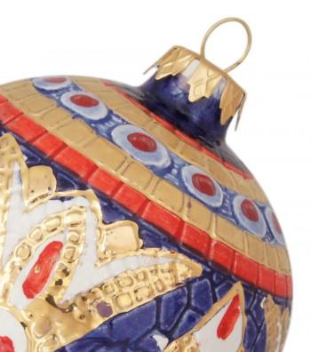 Detailed ceramic Christmas ball