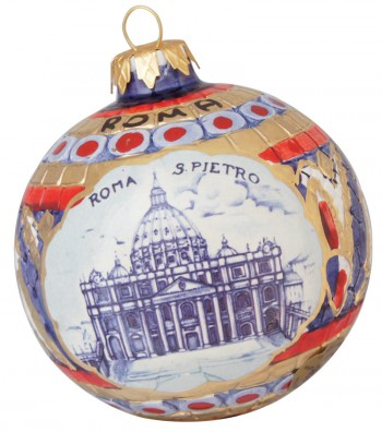 Saint Peter ceramic Christmas ball