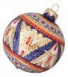 Ceramic Christmas ball on the back