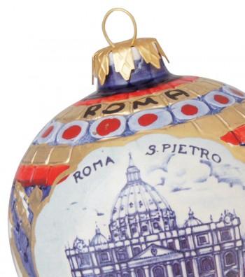 Detailed Saint Peter ceramic Christmas ball