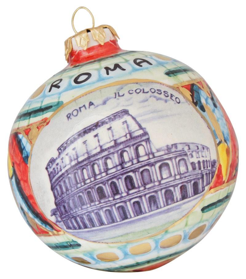 Colosseum ceramic Christmas ball