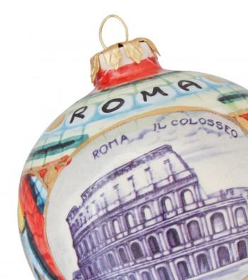 Detailed Colosseum ceramic Christmas ball