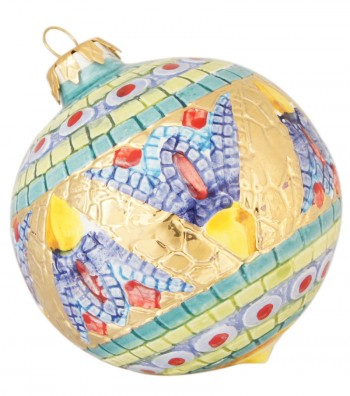 Large ceramic Christmas ball