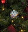 Ceramic Christmas ball on a tree