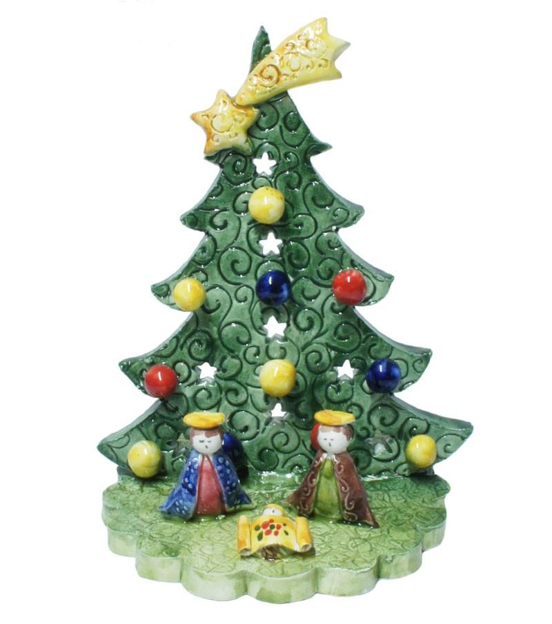 Albero Di Natale Jpeg.Presepe Con Albero Di Natale Artigianato Italia