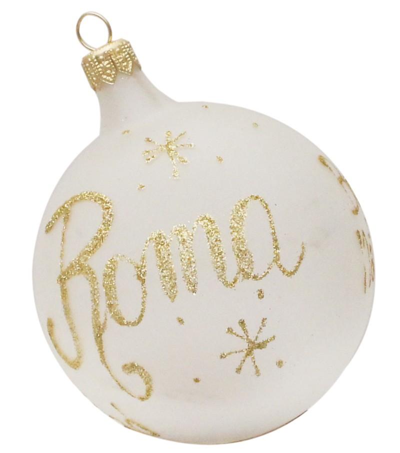 Buon Natale Italia.Palla Di Natale Bianca Buon Natale Artigianato Italia
