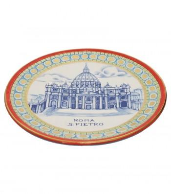 Saint Peter plate red border