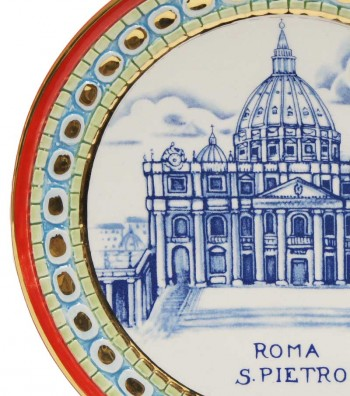 Detailed Saint Peter plate red border