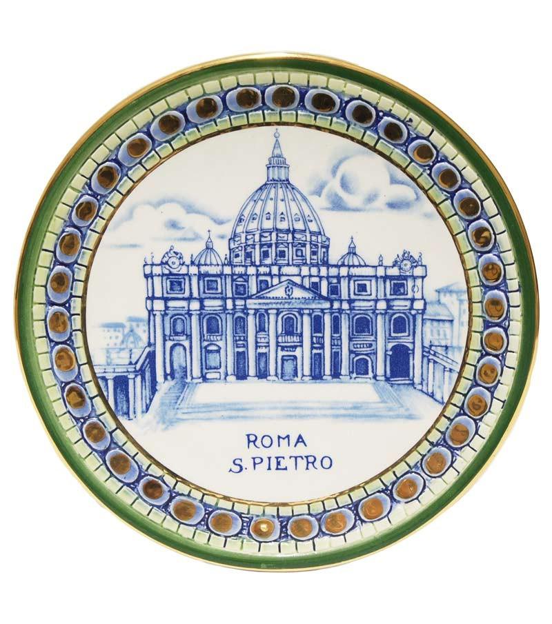 Saint Peter plate green border