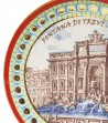 Detailed Trevi Fountain plate red border