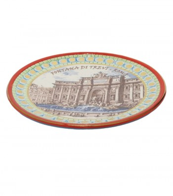 Trevi Fountain plate red border