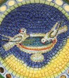 Round plate doves detail