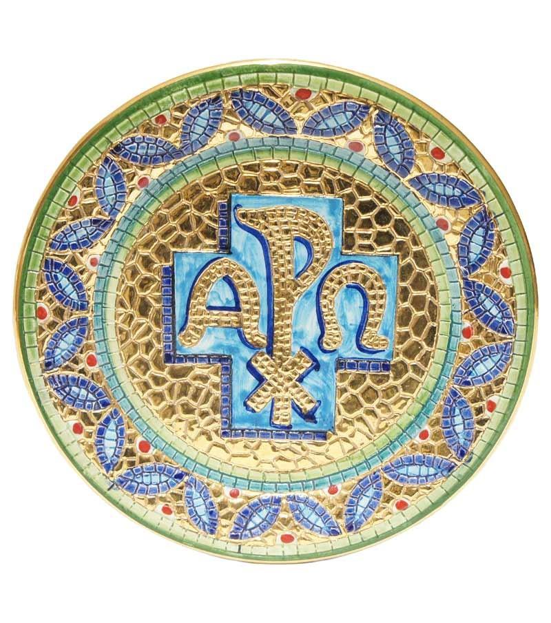 Peace Cross green plate