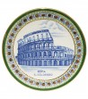Colosseum plate green border