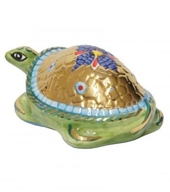 Big green turtle back