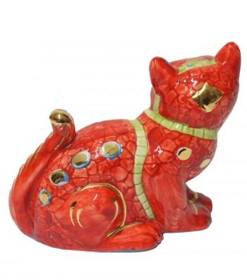 Big red cat back