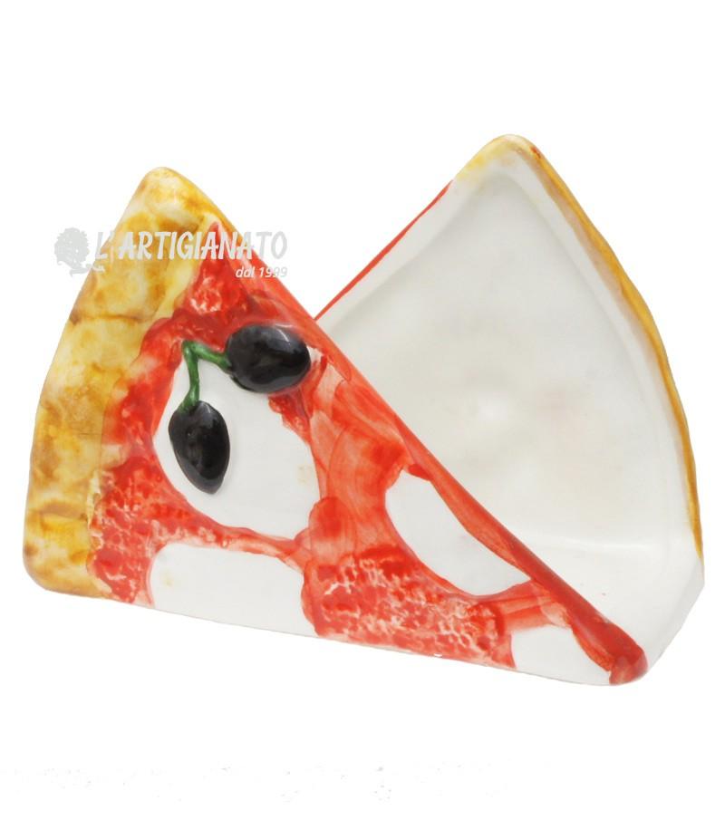 Portatovaglioli Pizza in Ceramica