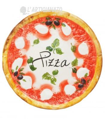 Piatto Pizza in Ceramica Decoro Margherita