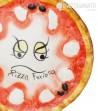 Ceramic Pizza Plate Furiosa ,close up view