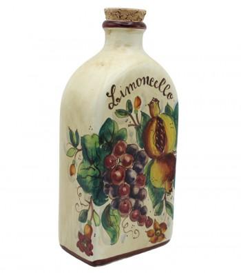 Bottiglia in ceramica per limoncello vista laterale